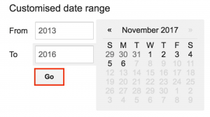 Customised date range
