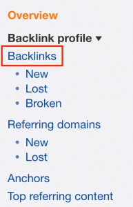 Lost backlinks