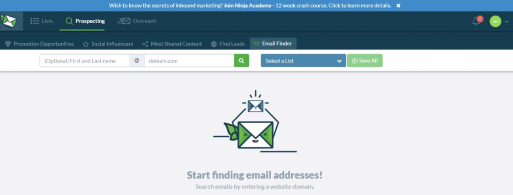 Outreach email finder