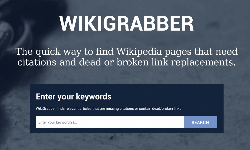 Wikigrabber broken links
