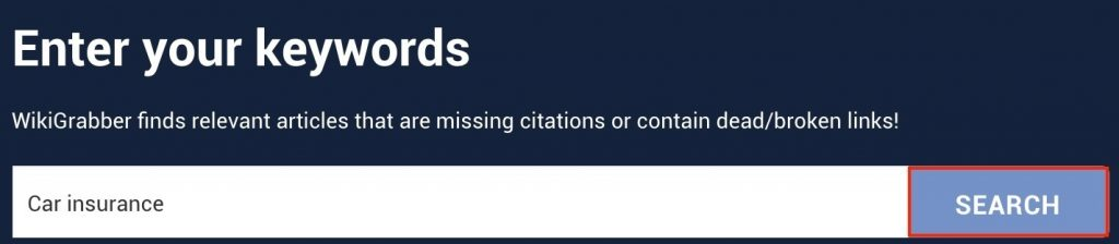 Wikigrabber search