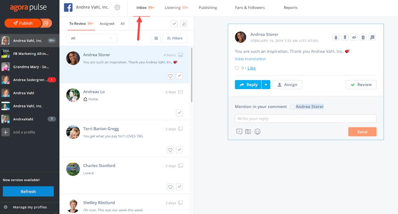 Agorapulse smm tool